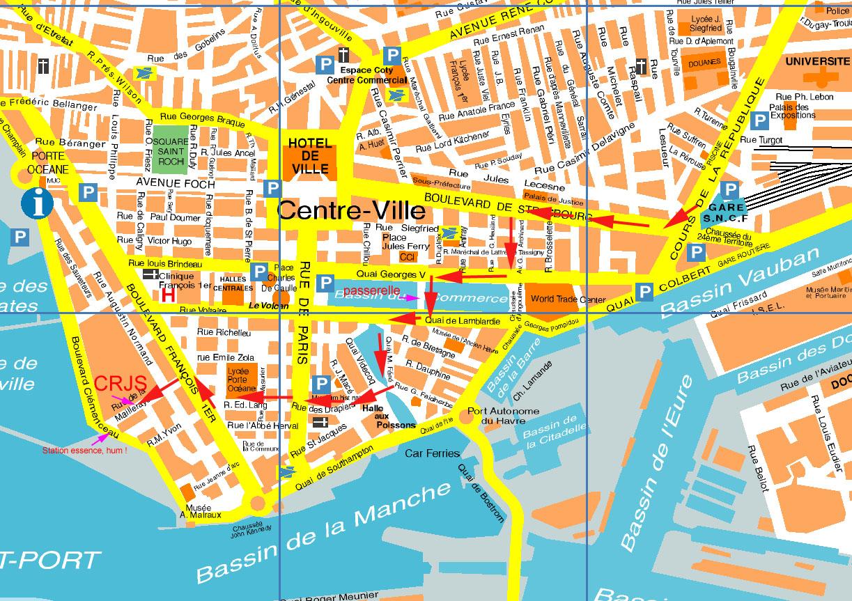 Centre Ville Du Havre Plan